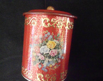 Metal Canister/ German/ Red