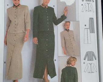 Burda Jacket Skirt Pattern 8831 Plus