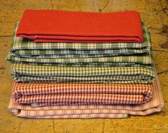 Red And Green Scrap Fabric | Fabric Scrap Bundle | Cotton Fabric Scrap