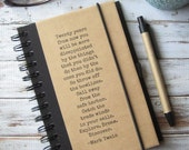 Husband Gift for Men Writing JOURNAL NOTEBOOK Gift for Teens Friend Cousin Mark Twain Zany 97