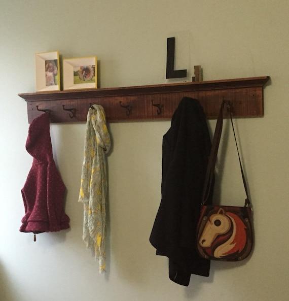 School house vintage trim coat rack Extra Long