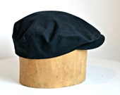 Men's Waxed Canvas Driving Cap - Men's Rain Hat - READY TO SHIP via 3 Day Priority