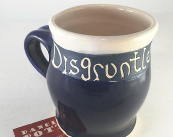 Disgruntled Minion Mug - Funny Office Gift - Phrase Mug - Silly Coffee Cup - Handmade Ceramic - 16 oz - Holiday Gift -  Work -