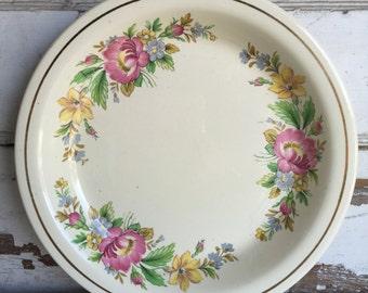 Vintage Pie Plate - Homer Laughlin - Kitchen Kraft - Floral
