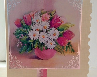 Tulips and Daisies Card
