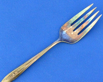 Silver Tulip Silver Plated Serving Fork by International Silver 1956