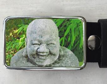 Laughing Buddha Belt Buckle.  Spiritual Art.  Belt buckle for men.  Womens gifts.  Buddha statue.