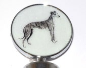 Sue Bero Greyhound or Whippet Dog Wine Bottle Stopper 2
