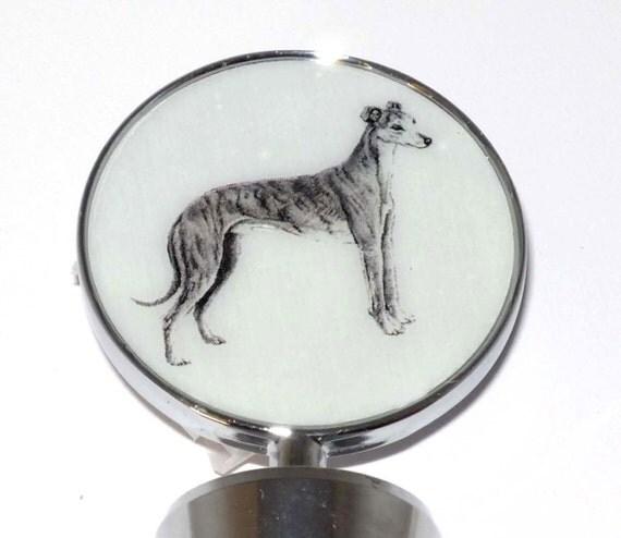 Sue Bero Greyhound or Whippet Dog Wine Bottle Stopper 2