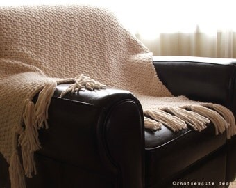 CROCHET PATTERN - Urban Chic Throw - Instant Download (PDF)