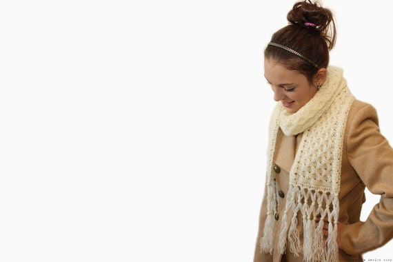 CROCHET PATTERN - Honey Bee Scarf - Instant Download (PDF)