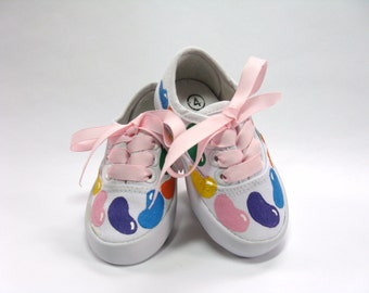 Candy Shoes, Easter or Birthday Party Sneakers, Candy Theme Outfit, Hand Painted for Baby and Toddlers