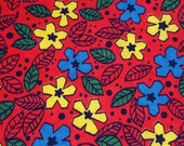 vintage 90s cotton fabric, featuring stylized floral and dot design, 1 yard, 3 available priced PER YARD