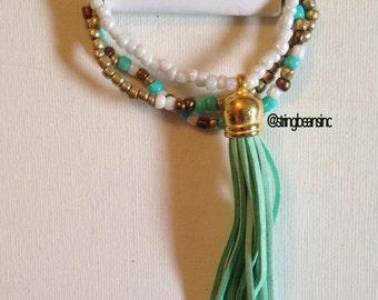Seedbead Bracelet Set One of a Kind