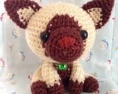Amigurumi Cat / Crocheted Cat --- Siamese Cat