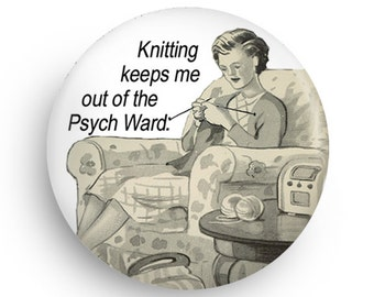Funny Knitting Geek Gift Magnet, Best Stocking Stuffer for Knitting Crafters!