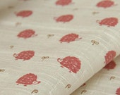 4147 -  Japanese Hedgehog Cotton & Waterproof Fabric - 43 Inch (Width) x 17 Inch (Length)