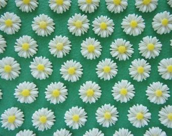 12 pcs  White Daisy Cabochon (21mm) FL447