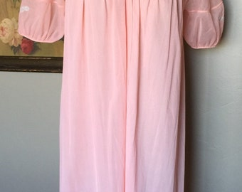 Kayser Peach Pink Lace Lingerie Robe