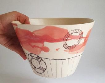 handmade bowl, porcelain bowl, serving bowl, fruit bowl, salad bowl, mixing bowl, bread making bowl, large bowl, bowls, bowl, big bowl