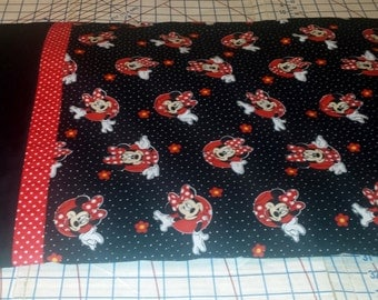 Simple Roll Up Minnie Mouse Pillowcase Sewing Kit and Tutorial