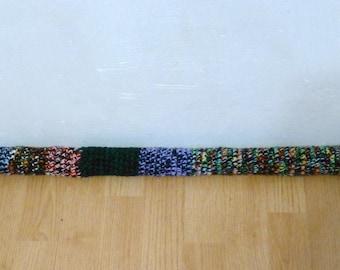Door Draft Stopper Multi Color, Crochet Draft Dodger, Door Draft Snake Window Worm