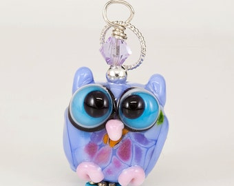 RESERVED for Dawn - Peiwinkle Pink Lampwork Glass Bead Pendant