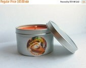 MOVING SALE Pumpkin Pie, Scented Candle, 8 ounce size, Soy Candle, Fall, Autumn Scents