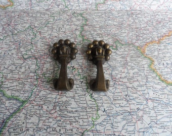 SALE! 2 vintage chunky brass metal pull handles