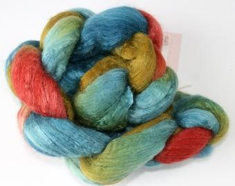 Polwarth Tussah Silk Spinning Fiber - 'You Just Gotta Be'