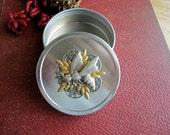 Bee Trinket Box, Bee Jewelry Box, Bee Box, Bee Tin, Gift Tin, Nature Inspired, Bridesmaid Gift, Metal, Art, Pill Box, Woodland, Storage Tin