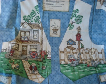 Fences and Friends Vest by Kathi Walters - Cut & Sew Fabric Panel - Cottage - Cats - Birdhouses - Size SM - XL