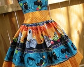 ON SALE Ready to Ship Custom Boutique Halloween Girl Jumper Dress 3 4