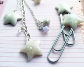 Opal and Pearl Star Set Paper Clips and Planner Charm