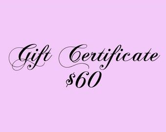 Gift Certificate 60 Dollars for Kauai Art or Art Classes on Kauai