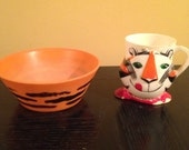 Vintage Tony the Tiger cereal bowl & cup