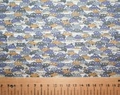 "Special Offer! Liberty Tana Lawn ""CARS"" grey/light brown fat quarter"