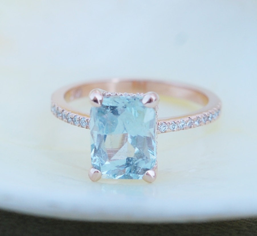 Blake Lively ring 3.17ct Mint Sapphire 14k rose by ...