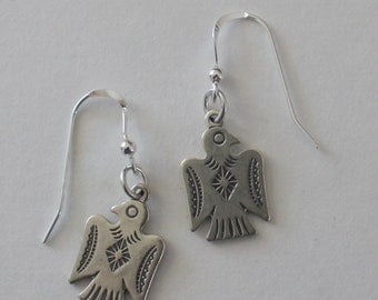 Sterling Silver THUNDERBIRD Earrings - Southwest