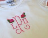 Heirloom Embroidered Monogram Turtle Angel Wing Knit Shirt T Shirt