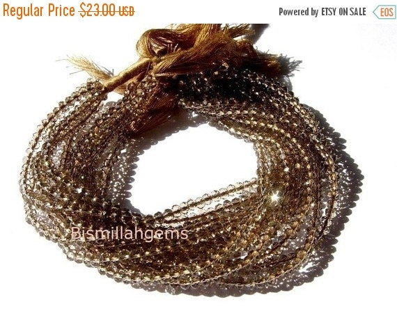 55% OFF SALE AAA Mystic Brown Quartz faceted rondelles 3mm 14 inches