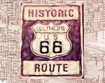 Route 66 Polaroid SX-70 Manipulation - 8x8 Fine Art Photograph, Wall Decor