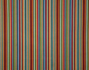 Robot Fabric By the Yard, Quarter Yard, Fat Quarter Gearheads Fabric Stripe Red Blue Green Yellow Fabric Cotton Quilting Fabric t6/25