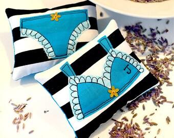 Personalised Lavender Sachet Set - Turquoise