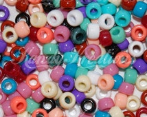 500 Southwest Mix Opaque 9x6mm Barrel Pony Beads 9mm USA Made for Craft Scout Kid Rainbow natural mix neutral pretty