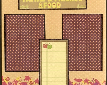 Family Food Friends Scrapbooking Premade Pages 12 x 12