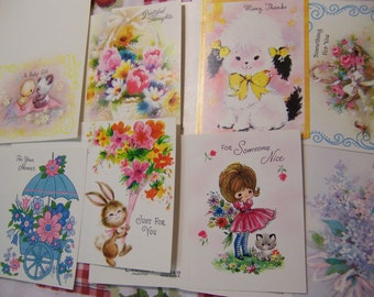 tiny vintage cards with box