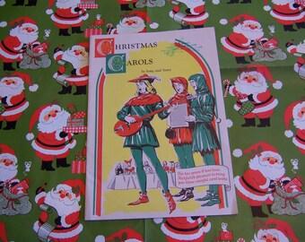 charming vintage christmas carols pamphlet