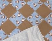 patchwork blankets - patchwork quilt - monkey stars