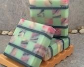 Mosaic Soap - Lotus Blossom Scented Artisan Coconut Milk Bar Soap II